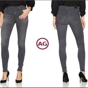 AG  Farrah High Rise Skinny Jeans Gray Sz 28